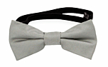 SOLID Light grey baby bow tie