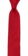 SOLID Light red skinny tie