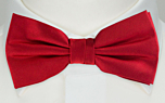 SOLID Light red pre-tied bow tie