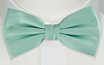 SOLID Light turquoise pre-tied bow tie