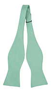 SOLID Light turquoise self-tie bow tie