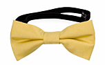 SOLID Light yellow baby bow tie