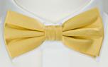 SOLID Light yellow pre-tied bow tie