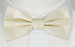 SOLID Off white pre-tied bow tie