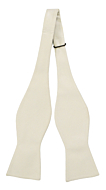 SOLID Off white self-tie bow tie