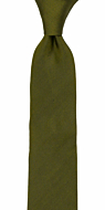 SOLID Olive boy's tie medium