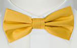 SOLID Yellow boy's bow tie