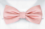 JAGGED Blush pink pre-tied bow tie