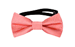 JAGGED Coral baby bow tie