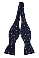 JULPYNT Navy blue self-tie bow tie