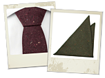 Homeros tie and Tapio pocket square gift combo