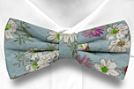 MEMORYLANE Turquoise pre-tied bow tie