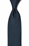 ORNATE Dark blue classic tie