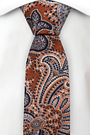 PULITO RUSTY ORANGE skinny tie
