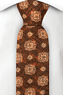 SIMBOLICO RUSTY BROWN skinny tie