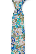 SPIFFYTOP Turquoise boy's tie medium