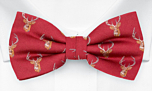 STAGGERING Red pre-tied bow tie