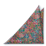 SYLVANITY Salmon pink pocket square