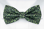 TUSSIEMUSSIE Green pre-tied bow tie