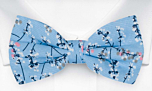 TWIGGLY Light blue pre-tied bow tie