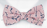 TWIGGLY Old pink pre-tied bow tie
