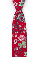 YULEPHORIA Red skinny tie