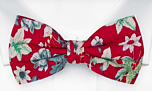 YULEPHORIA Red pre-tied bow tie