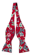 YULEPHORIA Red self-tie bow tie