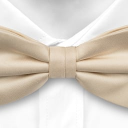 Notch Udo champagne coloured bow tie